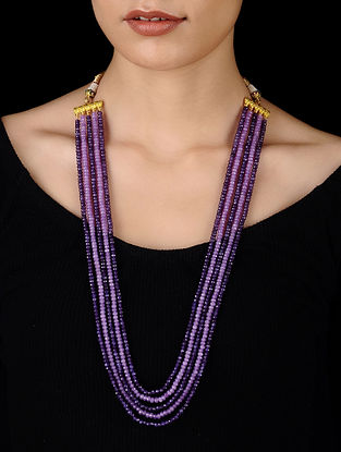 Purple Handcrafted Onyx Necklace