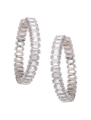 Classic Silver Tone Hoops
