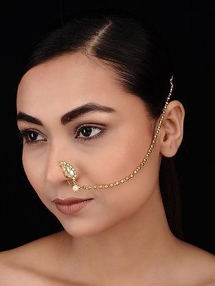 Classic Gold Tone Kundan Inspired Nath