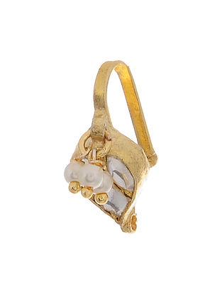 Gold Tone Kundan Inspired Nosepin