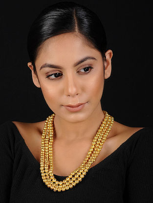 Gold Beaded Handcrafted Necklace