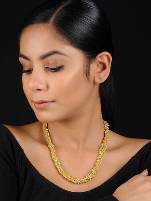 Classic Gold Beaded Handcrafted Necklace