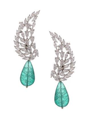Green Zirconia Earrings