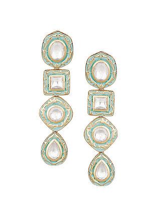 Mint Kundan Inspired Earrings
