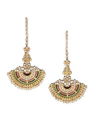 Multicoloured Kundan Inspired Earrings