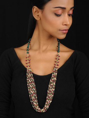 Multicolored Kundan Inspired Pendant Necklace