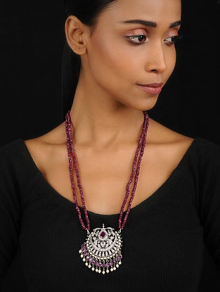 Red Quartz Victorian Pendant Necklace