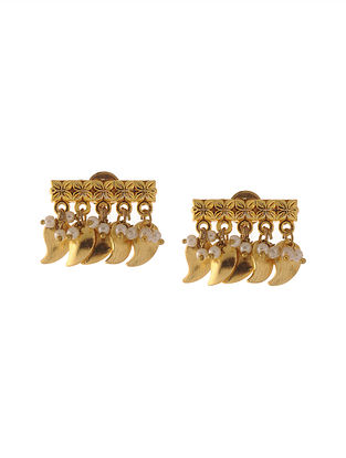 Classic Gold Plated Stud Earrings