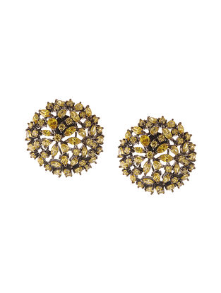 Yellow Zirconia Stud Earrings