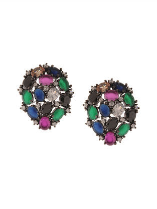 Multicoloured Zirconia Stud Earrings