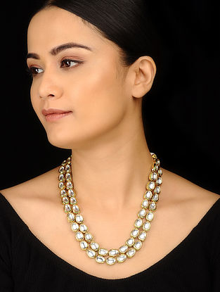 Classic Gold Tone Kundan Inspired Necklace