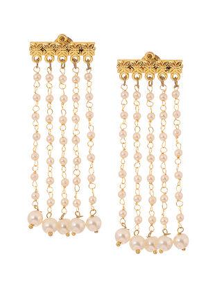 Classic Gold Tone Pearl Earrings