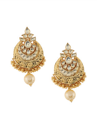 Gold Tone Kundan Inspired Earrings