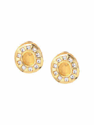 Yellow Gold Tone Handcrafted Earrings