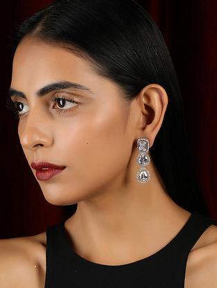 Silver Tone Handrafted Earrings