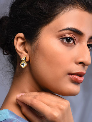 Gold Tone Kundan Earrings