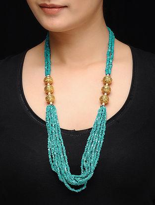 Feroza Gold Tone Turquoise Necklace