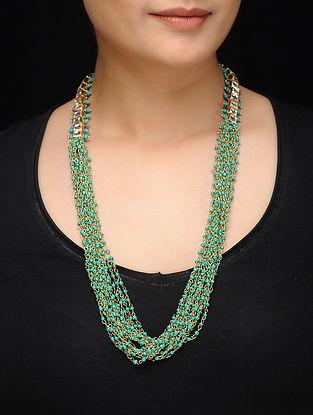 Feroza Blue Kundan Inspired Turquoise Necklace