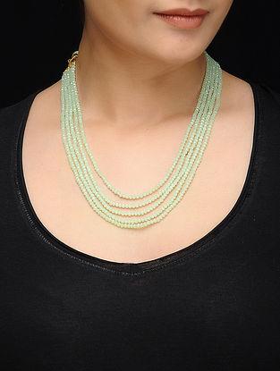 Feroza Mint Crystal Beaded Necklace