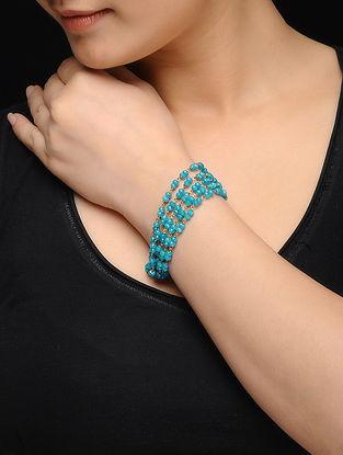 Feroza Gold Tone Turquoise Jade Bracelet