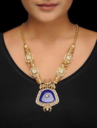 Blue Gold Tone Necklace