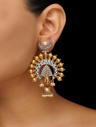 Dual Tone Baroque Pearl Jhumkas
