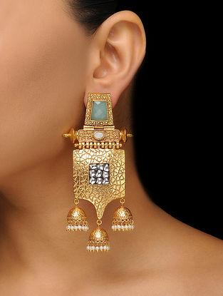 Mint Gold Tone Earrings
