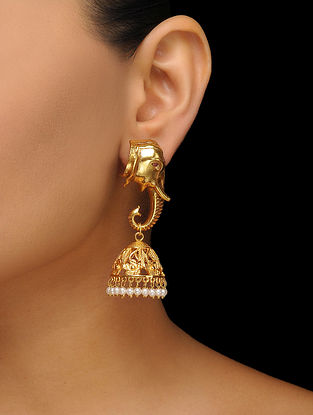 Classic Gold Plated Jhumkas