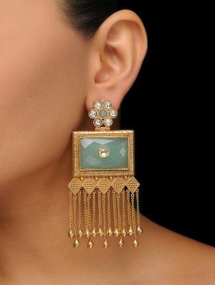Mint Gold Tone Kundan Inspired Earrings