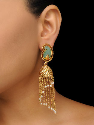 Mint Gold Tone Jhumkas