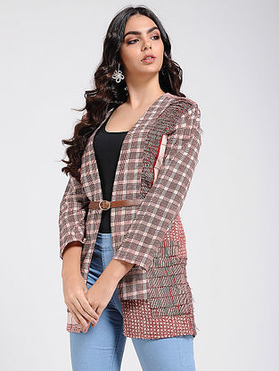 Madder-Ivory Bagh Printed Quilted Jacket