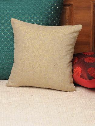 Beige Gold Jute Lurex Cushion Cover 11.5in X 11.5in