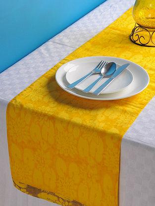 Yellow-Golden Lotus Table Runner 45in x 13in