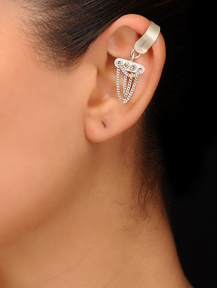 Tribal Silver Ear Clip