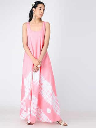 Pink Shibori Cotton Dress