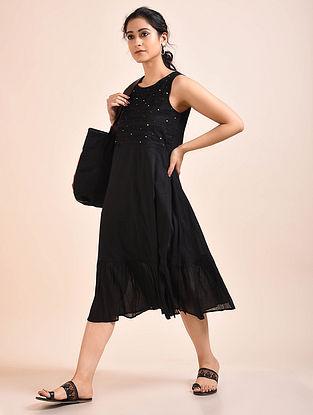 Black Pintucks Mul Dress