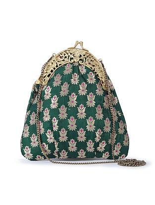 Green Floral Handcrafted Brocade Batuwa