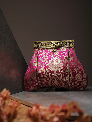 Pink Handcrafted Brocade Silk Batuwa
