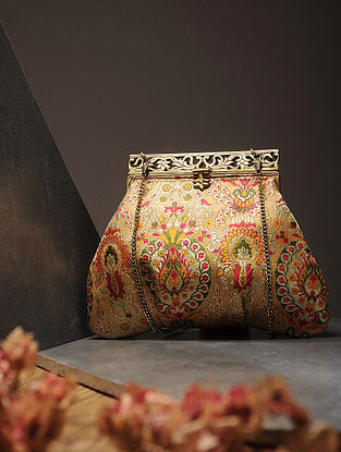 Multicolored Handcrafted Brocade Silk Batuwa