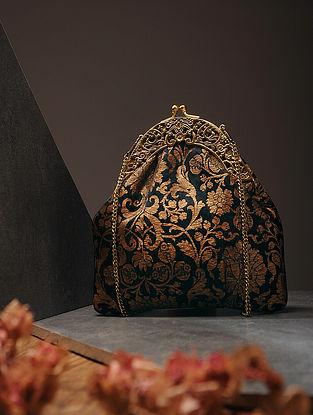Black-Gold Handcrafted Brocade Silk Batuwa
