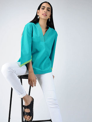 Turquoise Cotton Top