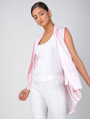 Pink Shibori Cotton Shrug