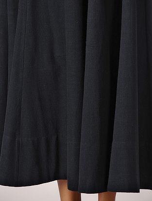 Black Elasticated Waist Cotton Skirt