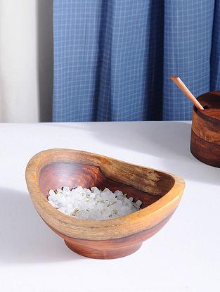 Brown Handmade Sheesham Wood Bowl (L - 5.1in, W - 5.5in, H - 2.6in)