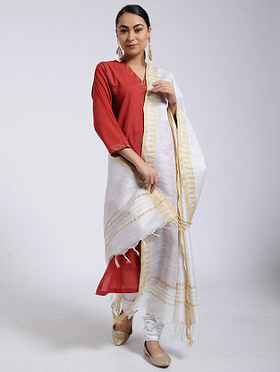 White Mulberry Silk Dupatta