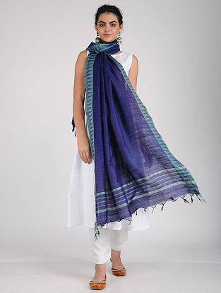 Blue Mulberry silk Dupatta