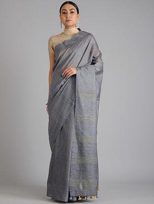 Grey Handwoven Kota Tussar Silk Saree
