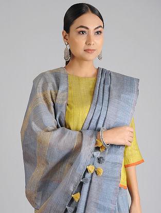 Blue Handwoven Kota Tussar Silk Saree