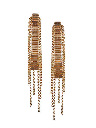 Rose Gold Plated Brass Earrings