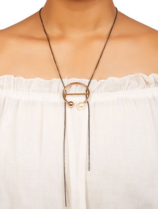 Dual Tone Brass Necklace